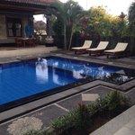 Private pool at villas