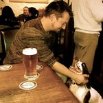 Happy Dog In A Pub