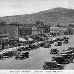 Early 1900's view of second street in Raton,NM