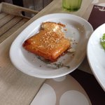 OMG it was very yammy and perfect feta cheese in thin puff pastry with honey and sesame on top,