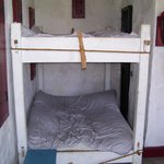 The old rope beds: just enough room to sleep