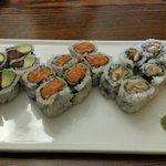 Tuna avocado/spicy tuna/mushroom rolls