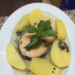 Salmon Fish with boiled patatoes