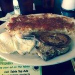 Pork chop, the eggs n hash browns... Ohhhh yA!
