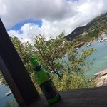 """A Vincy's version of """"hooray beer"""" on the veranda"""