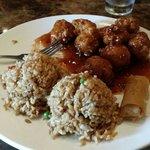 General Taos chicken lunch