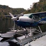 Parking our ride on the Gordon River