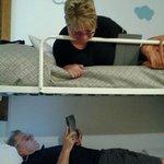 sleeping in bunk beds!!!