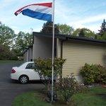 Kamer met de vlag in top