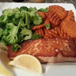 Salmon Broccoli and Sweet Potato