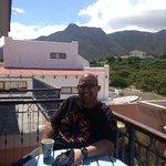 Enjoying tea on the balcony