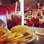 Burger, fries & coke