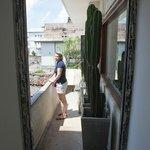 Deko auf der Außentreppe