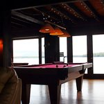 The sitting room, with pool table and a view!