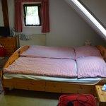 camera mansardata al secondo piano