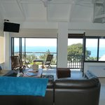 Seascape Loft, two bedroom, fully equipped kitchen for self catering, a bath and shower in one r