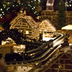 Addobbo natalizio all'ingresso