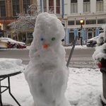 Our winter greeter