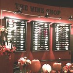 Excellent wine selection, right up on the wall