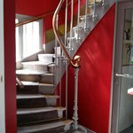 Narrow staircases to go up apartment