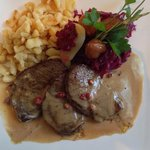 Daily menu from Friday, Nov 7 - gamey meat with chestnuts