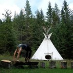 In the warmer months you can stay in a teepee