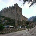 Uitzicht op het kasteel van Tenno.