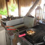 fresh mahi mahi on the grill