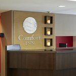 Reception desk at the Comfort Inn Laval Montreal