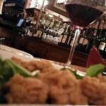fried oysters and house pinot