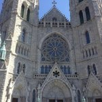 Outside of the Cathedral Basilica of the Sacred Heart