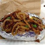 Pulled pork & tangled baked potato