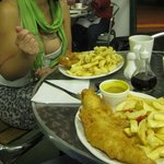 fish, chips, curry sauce and a cuppa, what more could you want?