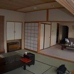 和室 洋室 寝室の三間続きの特別室