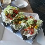 Lettuce Chicken Tacos Mexican Style