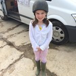 My Isobel all ready for her ride