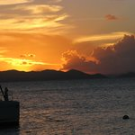 Sunset at Cooper Island Beach Club