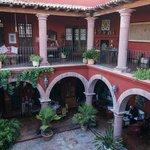 Courtyard and Balcony