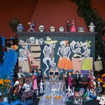 Day of the Dead altar at the casa