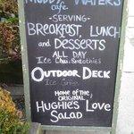 A brief menu upon entering Muddy Waters.