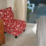 Ranch slider off bedroom