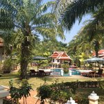 The resort has 2 pools amidst gorgeous, beautifully kept gardens