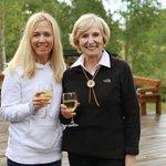 Enjoy a glass of wine with mom