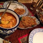Red Thai Curry and Noodles