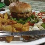Mushroom Burger at KC Garden Restaurant