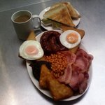 Large Breakfast only £7 this includes toast and a drink