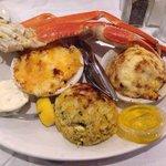 Crab sampler -crab legs, crab imperial, crab au gratin, and a jumbo lump crab cake. YUMMMM!