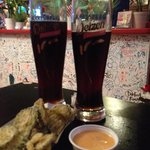 Fried Pickles and beer! YUM