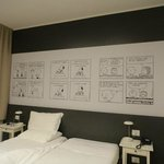 Un'altra delle camere dedicate ai Peanuts