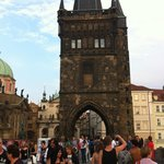 Hostel right by Charles Bridge